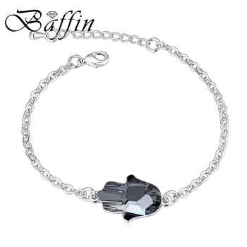 BAFFIN chain Bracelet Bangles Crystal palm pulsera wrist band for women accessories made with Swarovski ELements