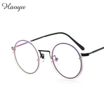 Haoyu 2016 New Metal alloy Eyeglasses frames Men women fashion rimless glasses prescription optical frame Oculos de grau TG 9090