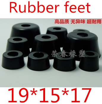 100PCS Durable New 19*15*17 Instrument Box Case Foot Bumpers Round Rubber Black Non-slip Cabinet Feet