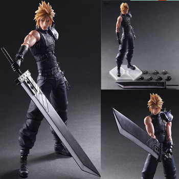 PlayArts KAI Final Fantasy VII Bulut Strife PVC Action Figure Koleksiyon Model Oyuncak 27 cm DE388
