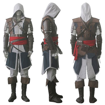 Assassin creed IV 4 Siyah Bayrak Edward Kenway Cosplay Kostüm Topluluk Entier Custom Made Express Gratuite