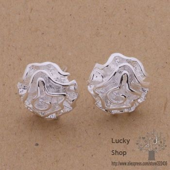 AE141 925 sterling silver earrings , 925 silver fashion jewelry , rose /bdaajuha dmramdya